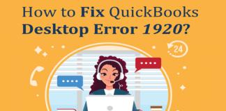 QuickBooks Error 1920 QuickBooks