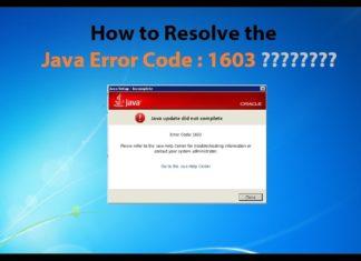 Java Error Code